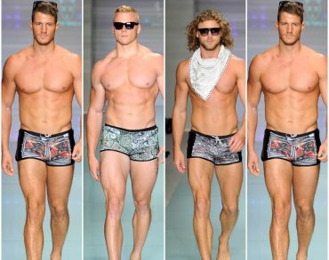 MIAMI BEACH, FL - JULY 14:  A model walks the runway featuring L.A.M.B. By Gwen Stefani eyewear at Mister Triple X Runway Show during Art Hearts Fashion Miami Swim Week Presented by AIDS Healthcare Foundation at Collins Park on July 14, 2016 in Miami Beach, Florida.  (Photo by Arun Nevader/Getty Images for Art Hearts Fashion)